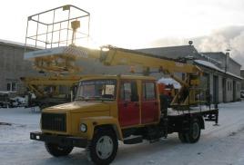 новые автогидроподъемники на шасси ГАЗ (4х4)